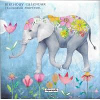 Calendrier d'anniversaires perpétuel Mila Marquis L'Elephant