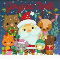 Carte Joyeux Noël Elen Lescoat Père Noël et Animaux