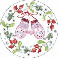 Carte Nouvel an ronde Kerstin Hess Les Moufles