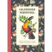 Calendrier d'anniversaires perpétuel Gwenaëlle Trolez Les Oiseaux