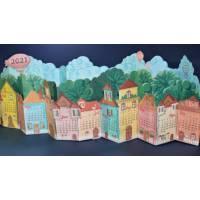 Calendrier 2021 DIY 3 D Petit Village, artisanal, à monter