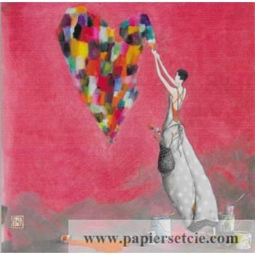 Carte double Gaelle Boissonnard 14 x 15,5 Les Couleurs de la Vie