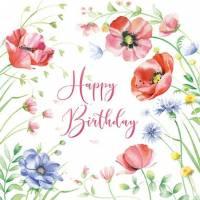 Carte Anniversaire Nina Chen Happy Birthday Coquelicots