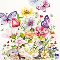 Carte Anniversaire Sabina Comizzi Tasse à Thé et Fleurs