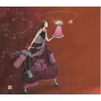 Carte double Gaelle Boissonnard 14 x 15,5 Faire briller la Fête
