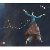 Carte double Gaelle Boissonnard 14 x 15,5 Un air de Liberté