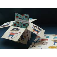 Carte Anniversaire Enfants 3 D Pop Up DIY Les Pirates