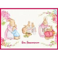 Carte Anniversaire enfants Peter Rabbit Scènes familiales