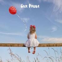 Carte Gros Bisous Fillette et Ballon rouge