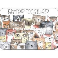 """Carte Chats """"Better together"""""""