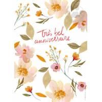 """Carte Anniversaire Fleurs à planter """"Très Bel Anniversaire"""""""