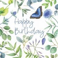 Carte Anniversaire Nina Chen Papillons et verdure