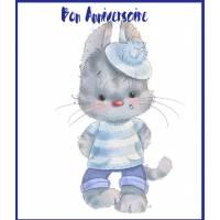 Carte Anniversaire Enfants Chat Minou Petit Marin