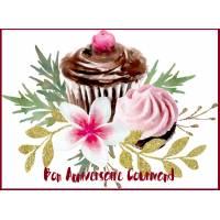 "Carte Anniversaire Gourmand ""Cupcake Chocolat et Fraise"""