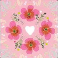 Carte Anniversaire Alice Pelaudeix Coeur et Fleurs