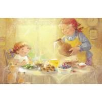 Carte Anniversaire Enfants KB Fillette et Grand Mère