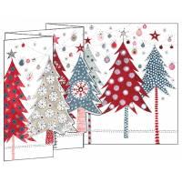 Carte Joyeux Noël et Nouvelle Année 3 D Sapins de Noël