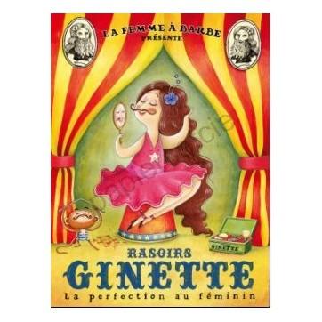 Poster Affiche Amandine Piu  Rasoirs Ginette