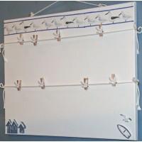 Pêle-Mêle 50x40 blanc à pinces Mouettes cabanes