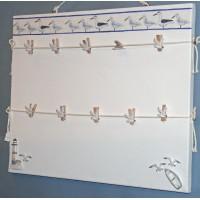 Pêle-Mêle 50x40 blanc à pinces Mouettes phare