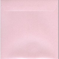 Enveloppe carrée rose mat