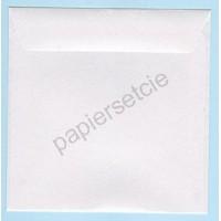 Enveloppe carrée blanc nacré