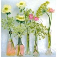 Carte Fleurs dans des vases