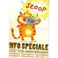 Carte Valérie Michaut Info spéciale: c'est ton anniversaire