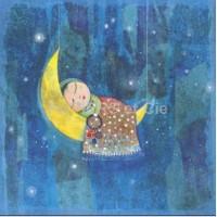 Carte Muriel Kerba Bébé au creux de la lune