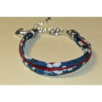 Bracelet liberty of London Mitsi marine à 3 rangs