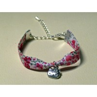 Bracelet liberty of London Phoebe rose breloque Hello Kitty