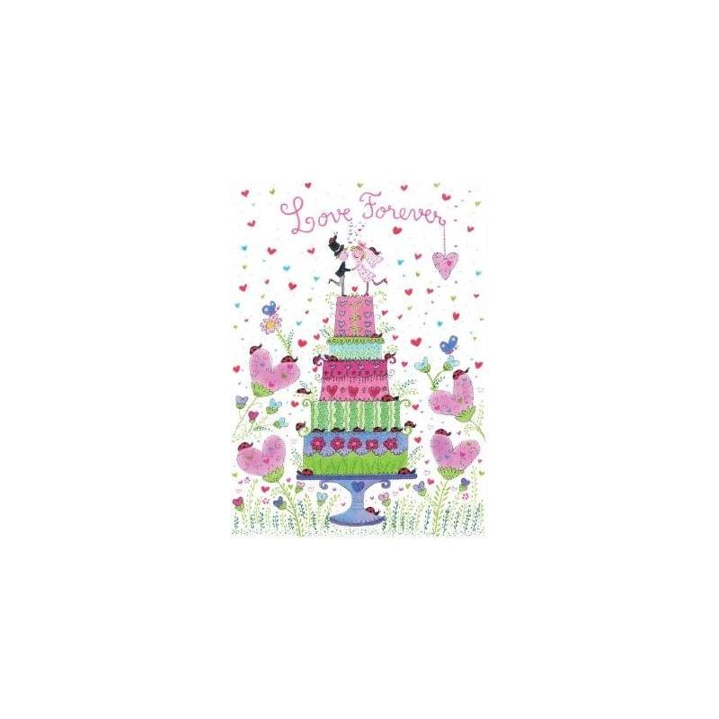 paillettes Poisson Mer Carola Pabst CARTE DE VOEUX poissons Carte Postale 14 x 14 HAPPY BIRTHDAY
