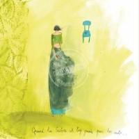 Carte simple carrée Anne-Sophie Rutsaert  Quand la tristesse est trop grande pour les mots...