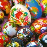 Carte carrée Oeufs de Pâques ukrainiens