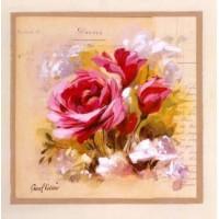 Carte Pascal Cessou  Roses roses