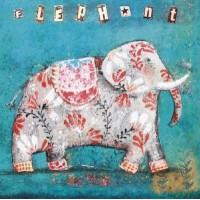 "Carte simple carrée Izou ""Elephant gris"""