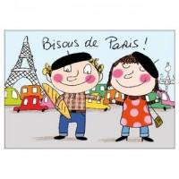 Carte Sophie Dollé Bisous de Paris!