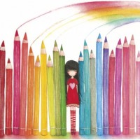 "Carte Mila ""Rainbow Pencils"""