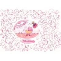 Carte Louise Deletang Félicitations Bébé rose