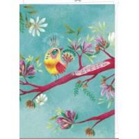 Carte double Izou rectangulaire 17 x 12 What a wonderful world