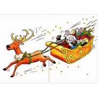 Carte Sophie Turrel Le renne du Père Noël est amoureux