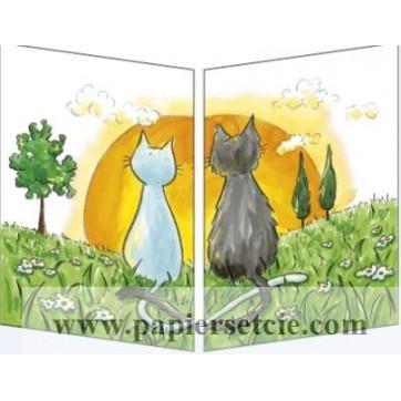 Sophie Turrel Les chats et le coucher de soleil