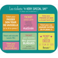 "Carte format ""Ecran"" Carotte et Cie Les tickets ""A very special day"""
