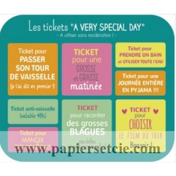 "Carte format ""Ecran"" Carotte et Cie Les tickets ""A very special day"""