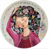 Carte ronde Izou La chevelure piquée de Fleurs