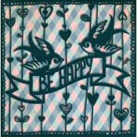 """Carte Florence Weizer  """"Be Happy"""""""