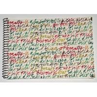 Grand Livre d'Or artisanal à spirales Calligraphie Rouge et verte
