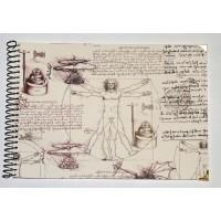 Grand Livre d'Or artisanal à spirales Léonard de Vinci