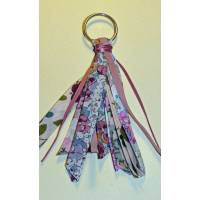 Porte clefs bijou de sac Liberty of London Patchwork rose