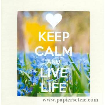 "Carte ""Keep Calm and Live Life"""